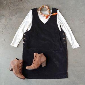 Vintage A.M.I. Velvet V-Neck Jumper Dress large